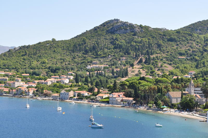 Lopudeiland in Kroatië royalty-vrije stock foto's