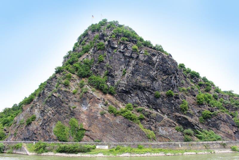 Loraley岩石,莱茵河的德国 免版税库存图片