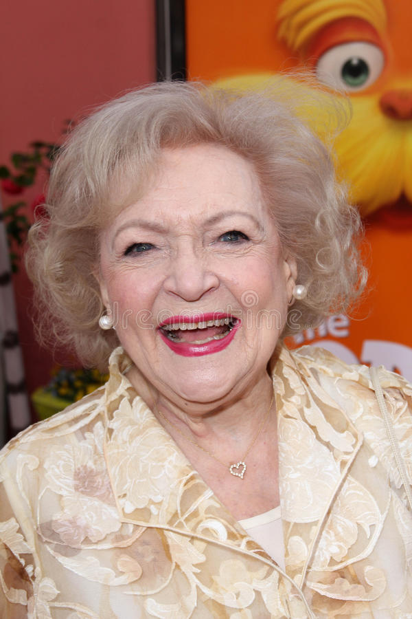 The Lorax, Betty White. Betty White at the Dr. Seuss' The Lorax Premiere, Universal Studios, Universal City, CA 02-19-12 royalty free stock photography