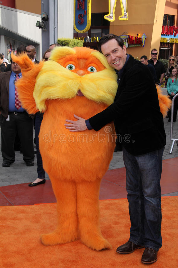 Download The Lorax, Ed Helms editorial stock photo. Image of premiere - 23474698