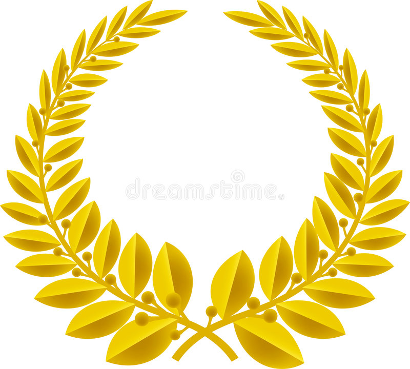 Lorbeer Wreathgold (Vektor) lizenzfreies stockbild