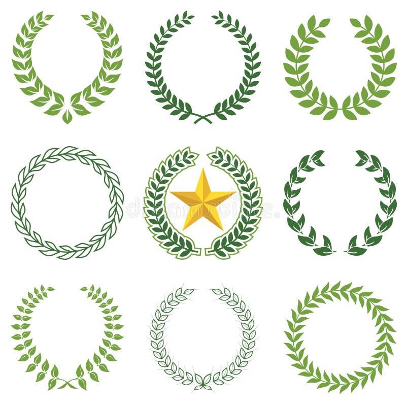Lorbeer Wreaths lizenzfreie abbildung