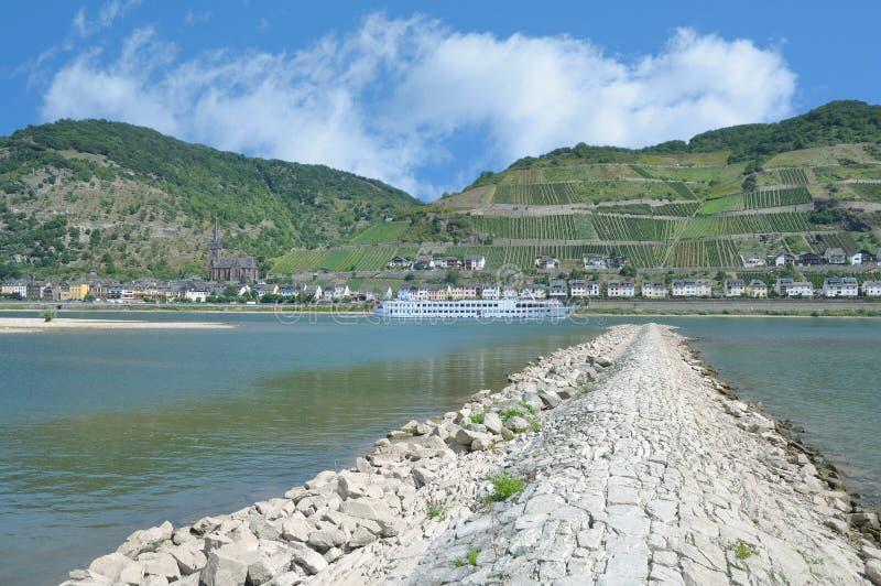Lorchhausen, Rheingau, ποταμός του Ρήνου, Γερμανία στοκ φωτογραφία με δικαίωμα ελεύθερης χρήσης