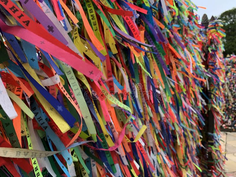 Lord of Bonfim ribbon. Salvador - Brazil . Lord of Bonfim ribbon, saint protector of Bahia stock images