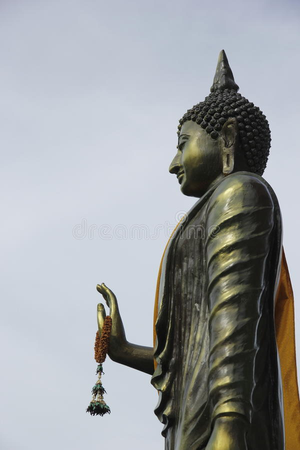 Lord Buddha at Bangkok Temple stock photo