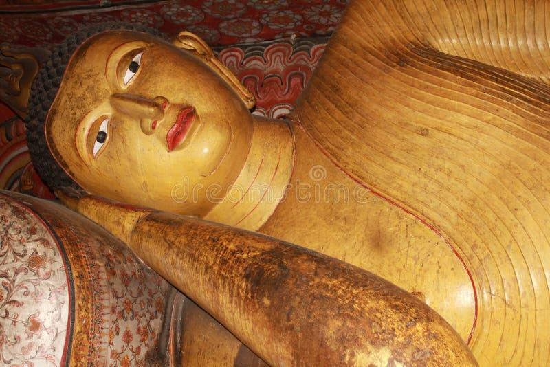 Lord Buddha, Dambulla, tempio Sri Lanka della caverna fotografie stock libere da diritti