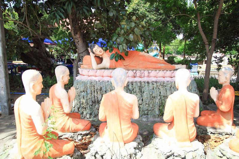 The Lord buddha death statue. The statue of the lord buddha death : The lord buddha delivered his last word you all complete your duties without carelessness stock photo