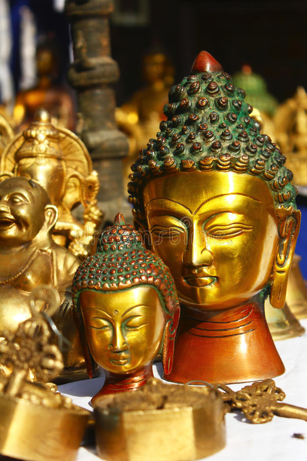 Lord buddha in dilli haat royalty free stock photography