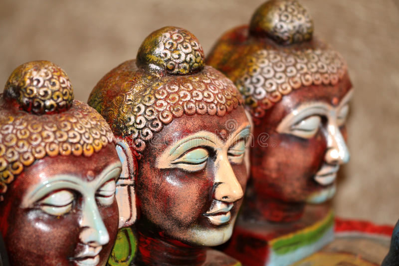 Download Lord buddha faces stock image. Image of internal, lime - 21641087