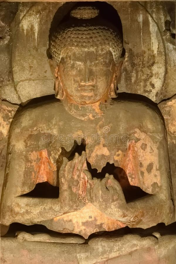 Lord Buddha in houding van meditatie royalty-vrije stock foto's