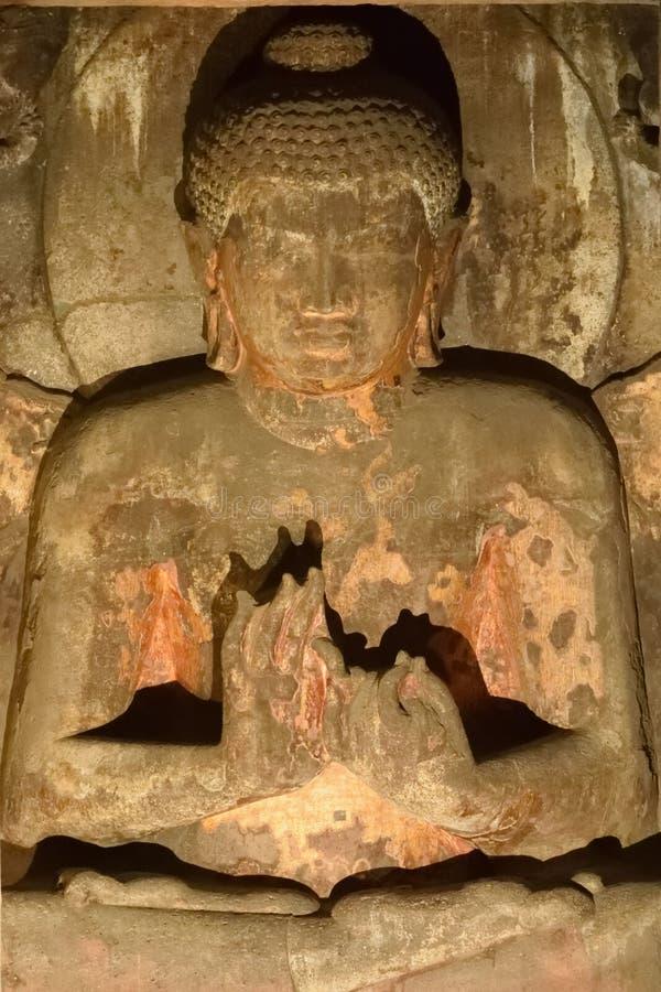 Lord Buddha na postura da meditação fotos de stock royalty free