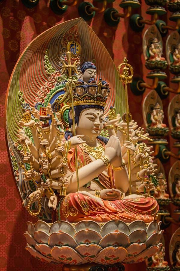 Lord Buddha no templo da relíquia do dente, Singapura fotos de stock royalty free