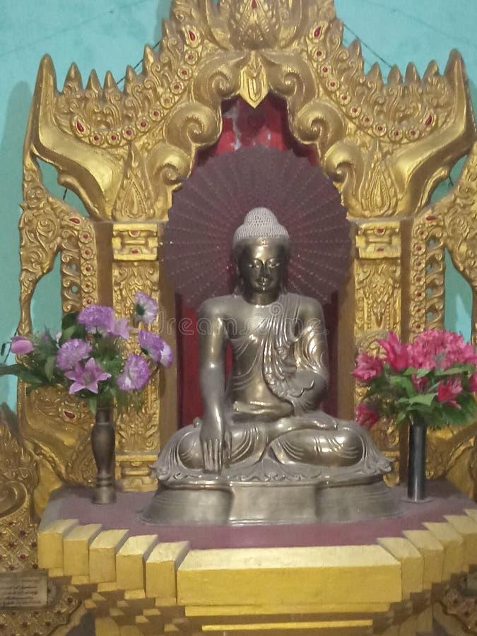 Lord Buddha situated at Kushinagar stock images
