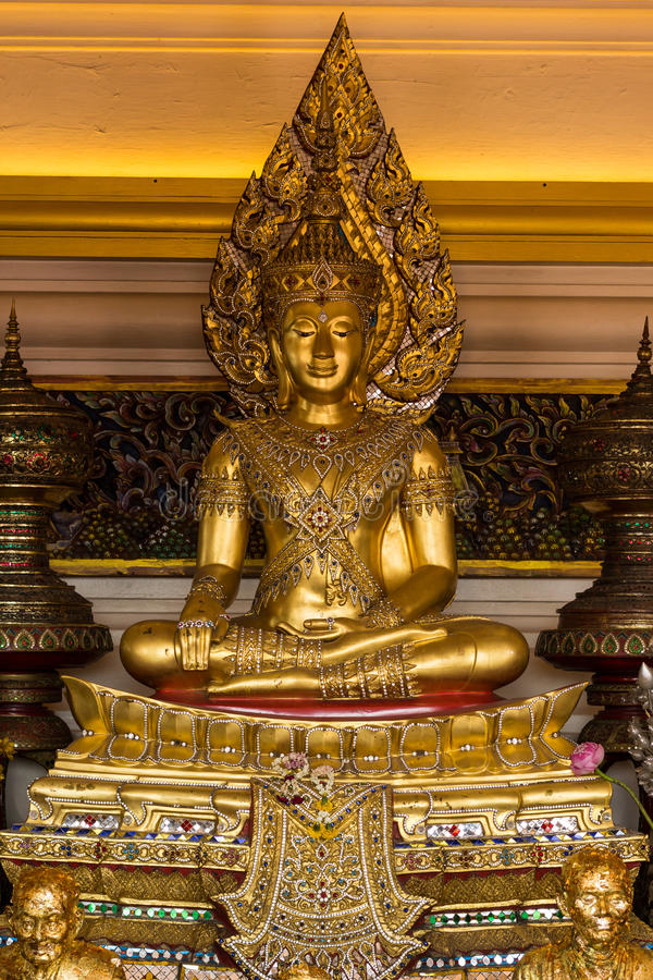 Lord Buddha at Wat-Sraket royalty free stock photo