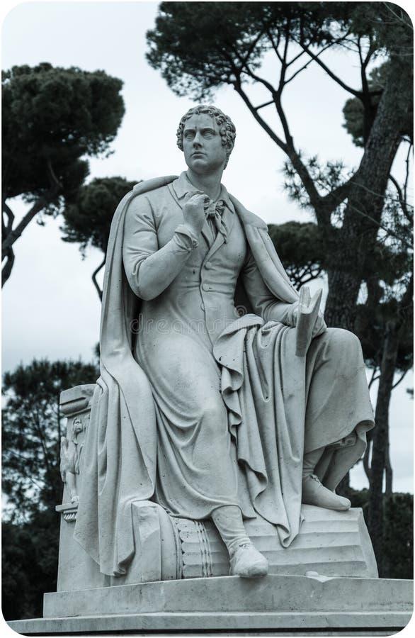 Lord Byron-beeldhouwwerk stock foto's