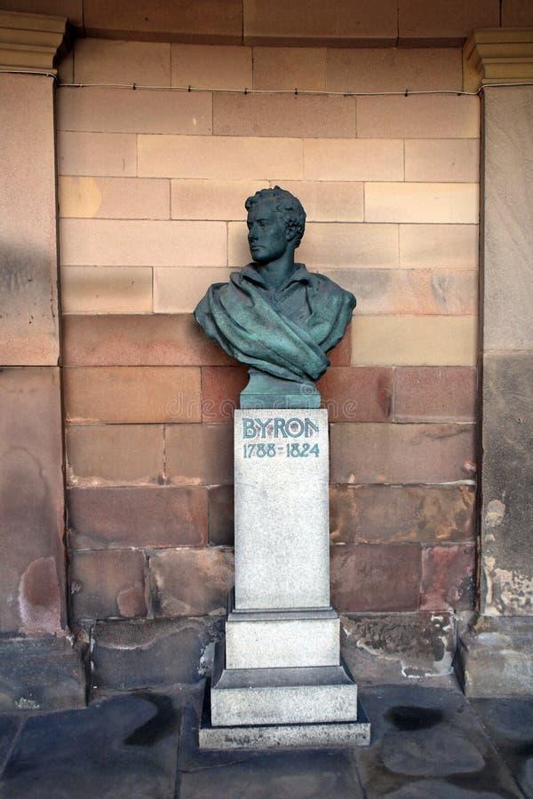 Lord Byron-sculture royalty-vrije stock foto's