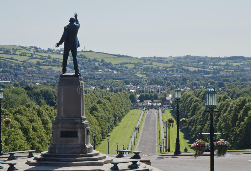 Lord Carson in Stormont, Noord-Ierland stock afbeelding