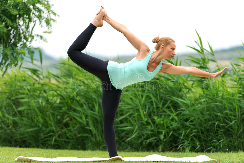 Lord of the Dance Yoga Pose stock image