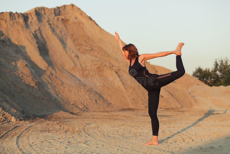 lord of dance yoga pose stock image
