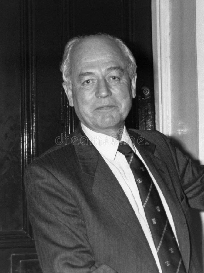 Lord David Waddington. Conservative party Peer and former Home Secretary, at a photo call in London on October 24, 1990. He was later Governor of Bermuda stock image