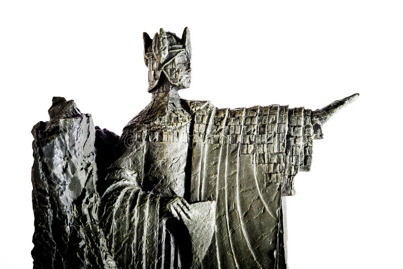 Lord der Ringfigürchens, die Elendil den Argonath, König von Gondor zeigt stockfotografie