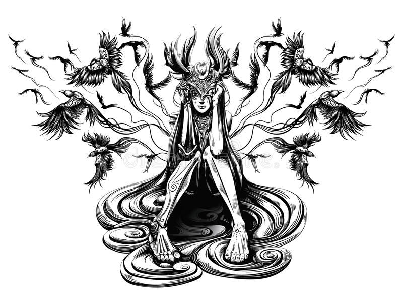 Lord des Raben stock abbildung