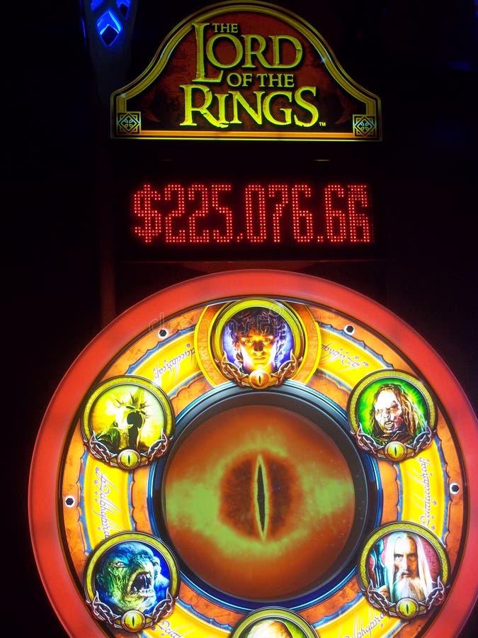 Lord des Ring-Spielautomaten lizenzfreie stockbilder