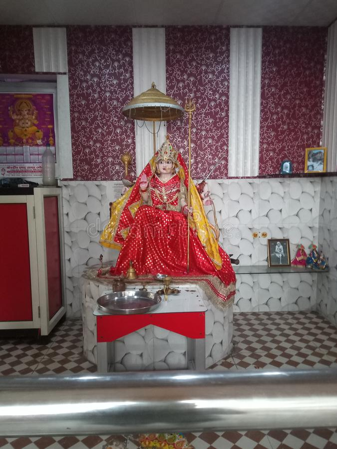 Lord Durga tempel av hindusdyrkanstället fotografering för bildbyråer