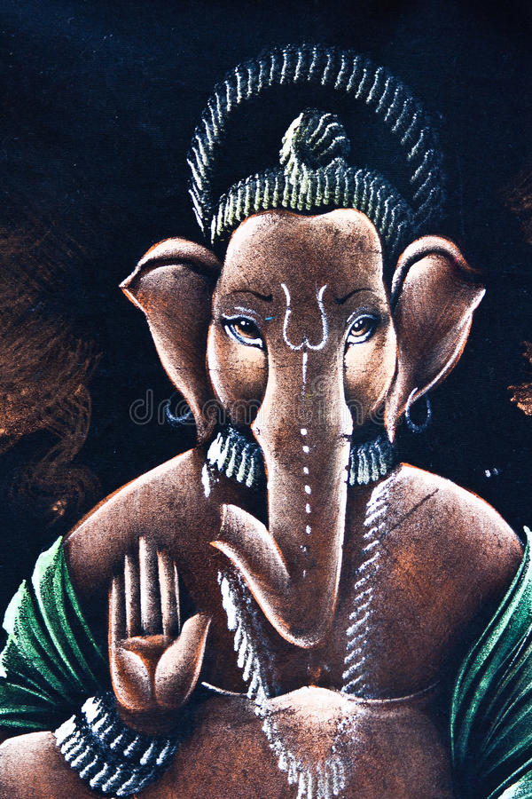 Free Lord Ganesh Painting Royalty Free Stock Photography - 56840007