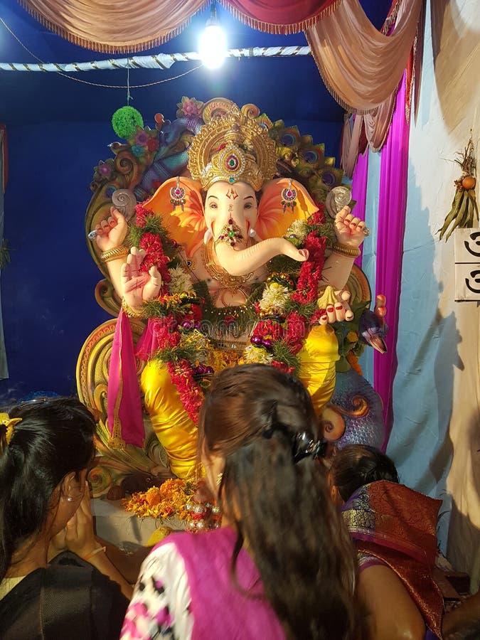 Lord Ganesh Visarjan - Ganapati Bappa Morya fotografia de stock royalty free
