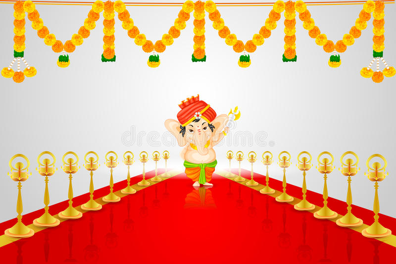Lord Ganesha ilustração stock