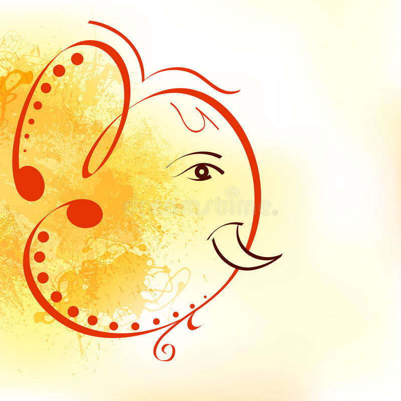 Lord Ganesha stock illustrationer