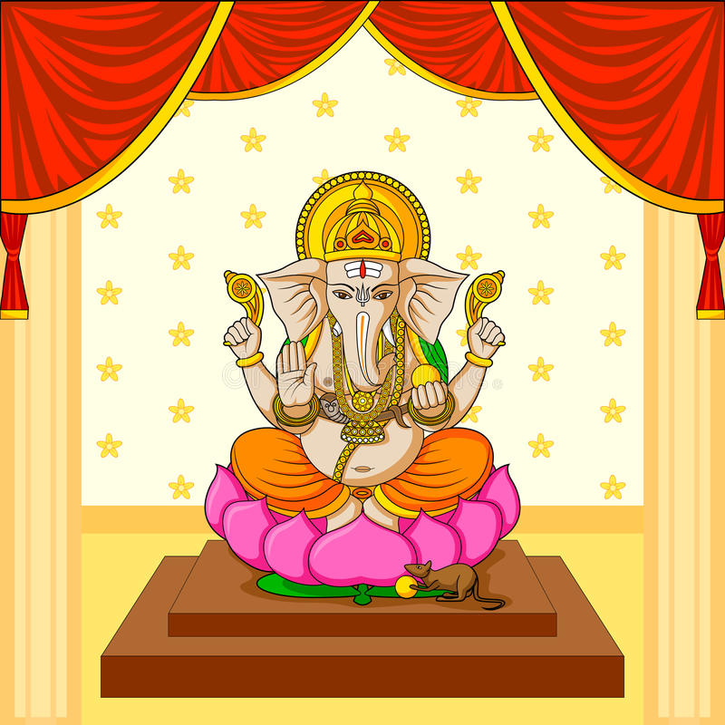 Lord Ganesha vektor illustrationer
