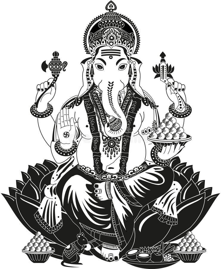 Lord Ganesha royaltyfri illustrationer