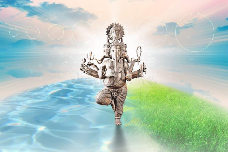 Lord Ganesha Abstract Illustration royaltyfri bild