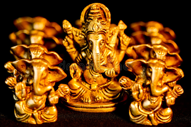 Lord Ganesha amongst nine Ganesha's. The Hindu God Lord Ganesha surrounded amongst Ganesha's stock photos