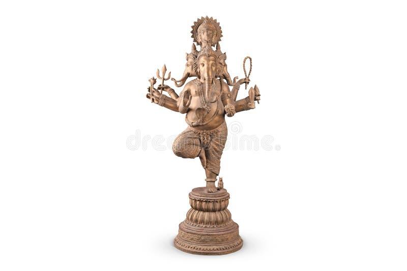 Lord Ganesha anseende som isoleras på vit royaltyfria foton