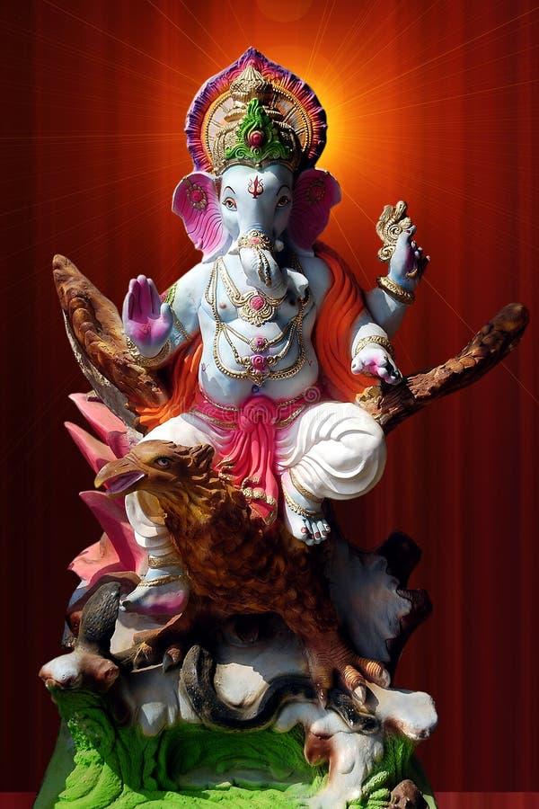 Lord Ganesha auf garuda lizenzfreie stockfotos