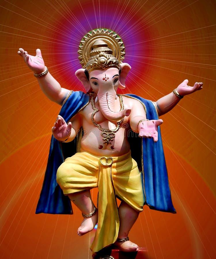Lord Ganesha die - danst stock foto's
