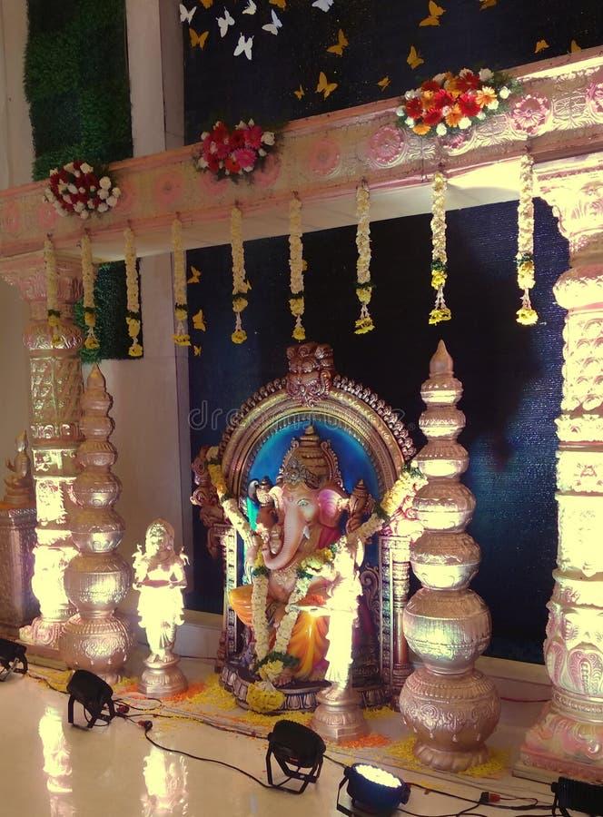 Lord Ganesha em glória total fotos de stock