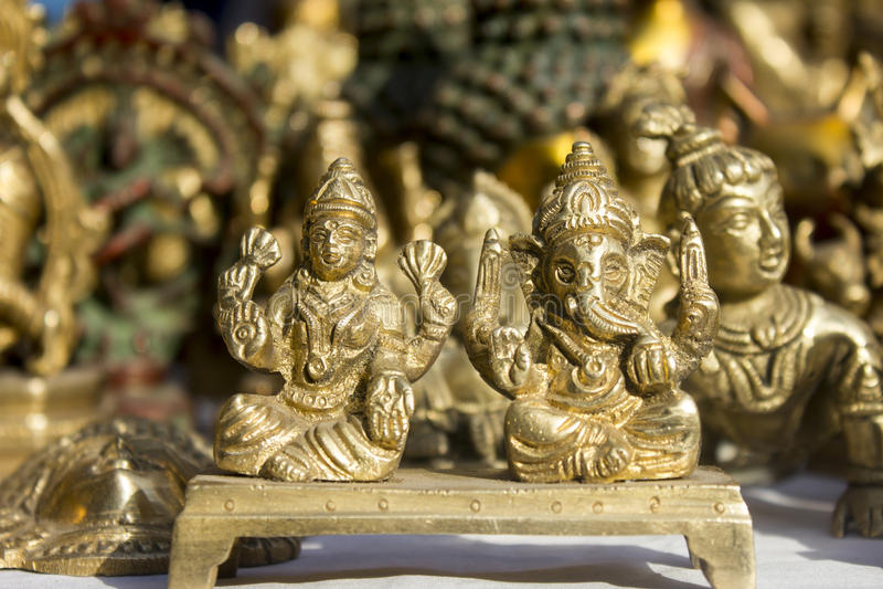 Lord ganesha with goddess laxmi royalty free stock image