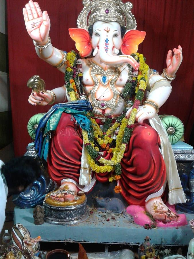 Lord Ganesha i Indien festivaler arkivfoton