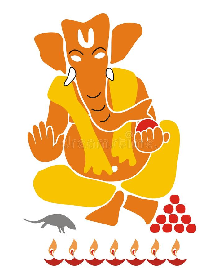Download Lord Ganesha - Illustration Isolated Stock Illustration - Image: 10584738