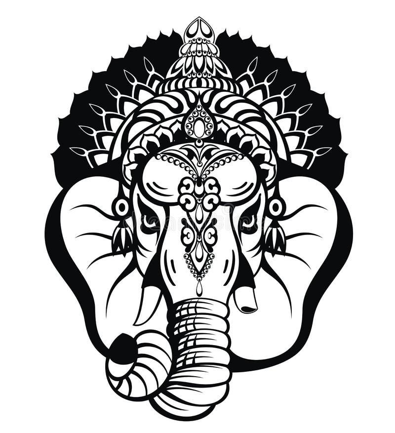 Lord Ganesha Illustrazione del fondo di Lord Ganpati per il festival di Ganesh Chaturthi dell'India royalty illustrazione gratis