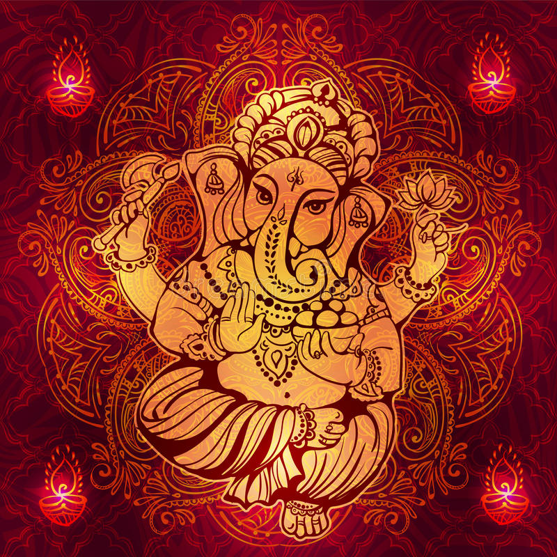Lord Ganesha indù royalty illustrazione gratis