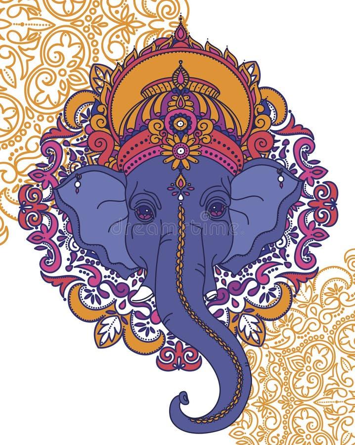 Lord Ganesha, kan als kaart voor viering Ganesh Chaturth worden gebruikt stock afbeelding
