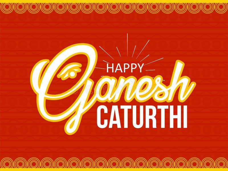 Lord Ganesha no estilo Ganesh Chaturthi da pintura ilustração royalty free