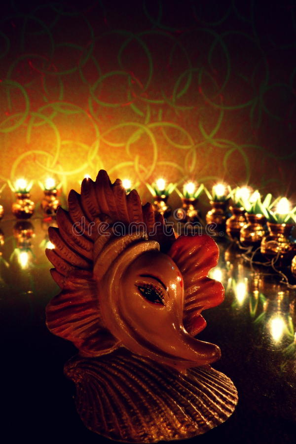 Lord Ganesha onipotente foto de stock royalty free