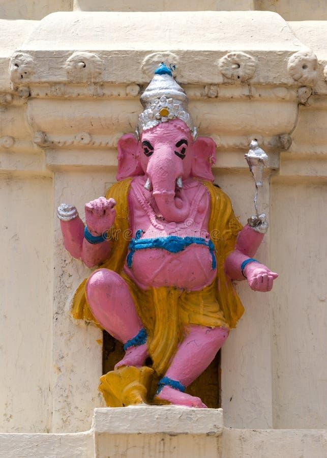 Lord Ganesha rosado en Lal Bagh, Bangalore de la India. fotografía de archivo