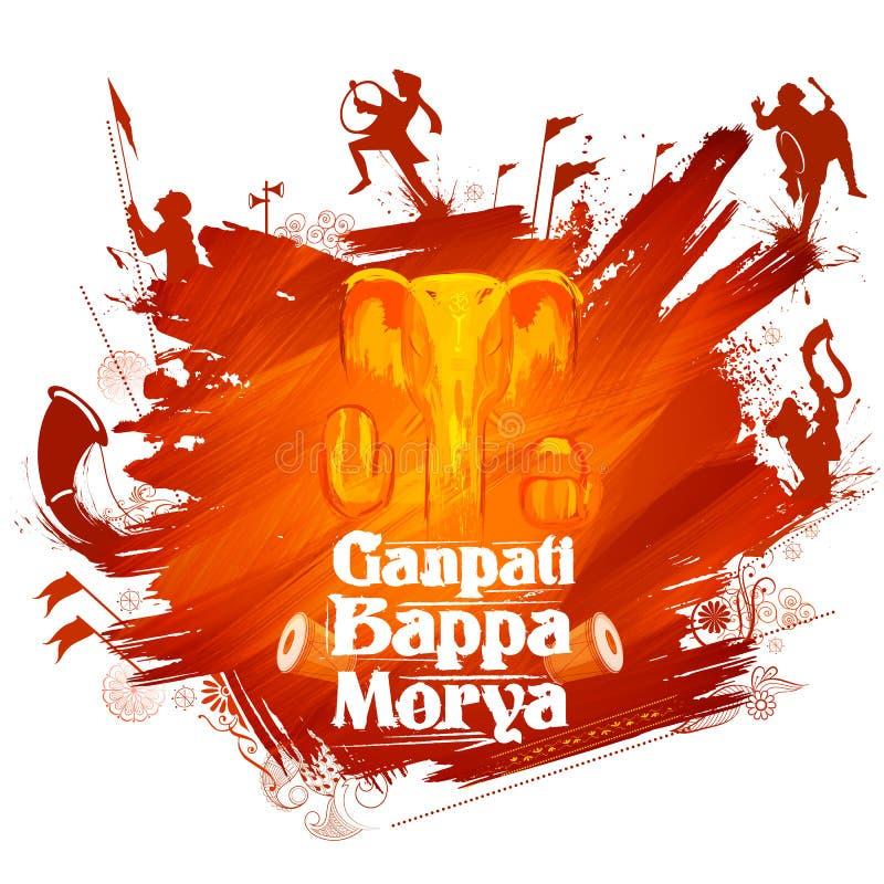 Free Lord Ganpati Background For Ganesh Chaturthi Royalty Free Stock Images - 97874759